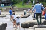鴨川デルタ 川遊びや飛び石で遊べる三角州   京都の観光と子どもの遊び場150ヶ所以上の訪問体験記