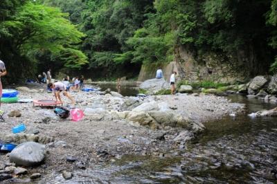 右京区|清滝へ行ってきた!|無料で川遊び! バスや車でのアクセスは? 駐車場は? トイレ事情は?