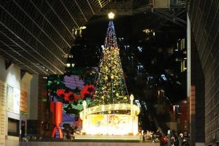 京都駅ビルのクリスマスイルミネーションを見に行ってきた!